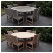 Teak table_chairs